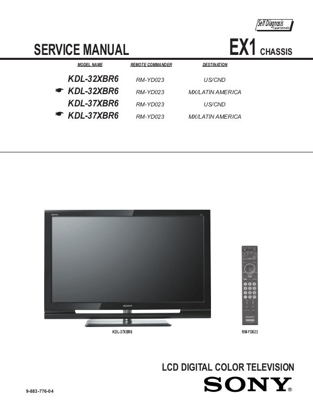 sony kdl 32xbr6 kdl 37xbr6 chassis ex1 rh slideshare net Pantalla Sony BRAVIA sony bravia 42 inch instruction manual