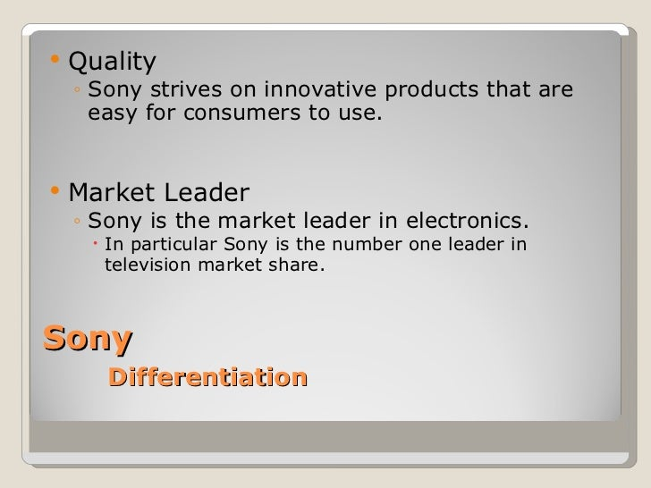 marketing plan for sony Sony hopes its new business plan will stimulate a 25-fold increase in profit by 2018.
