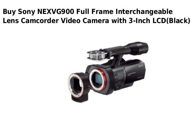 Sony nexvg900 full frame interchangeable lens camcorder video camera…