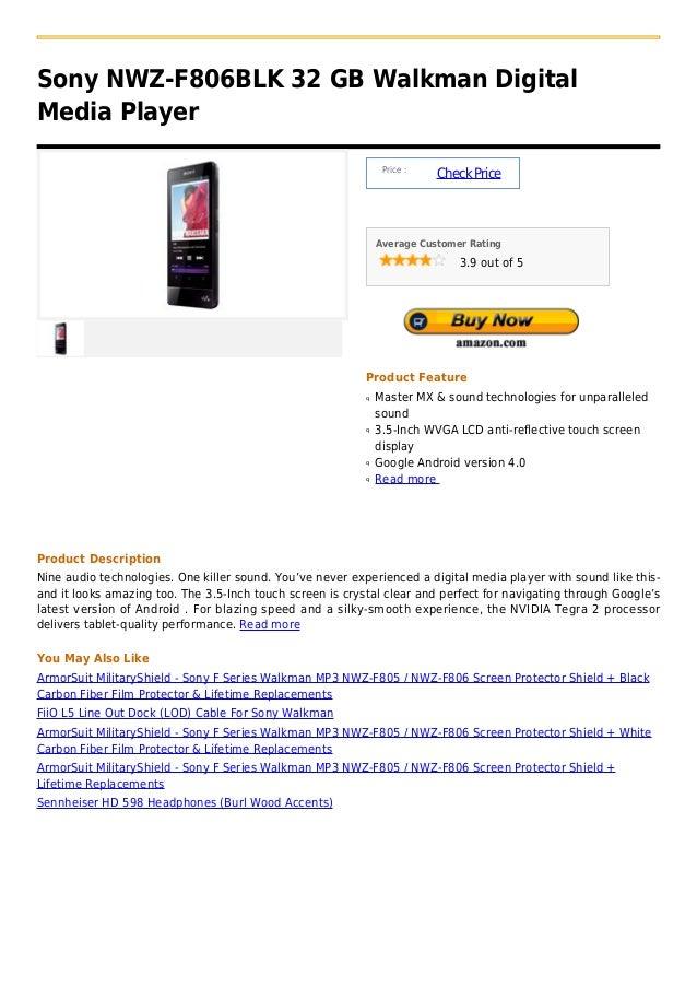 Sony NWZ-F806BLK 32 GB Walkman DigitalMedia Player                                                                Price : ...