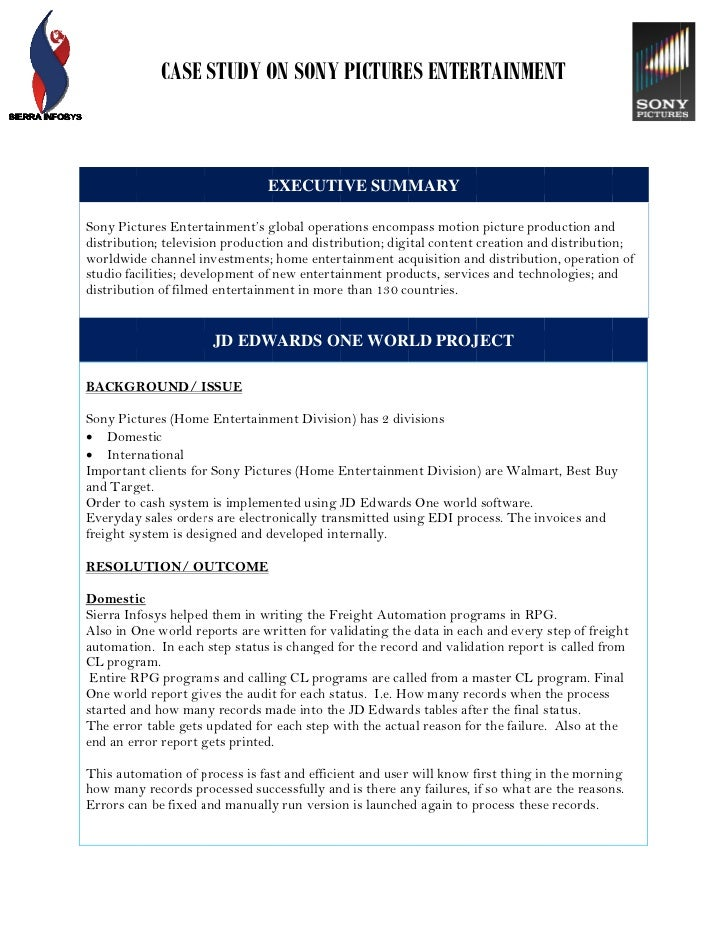 sony case study resources capabilities Case study page 1 1-800-373-3050 using their expertise as instructional technology facilitators, the catawba county schools information and technology department.