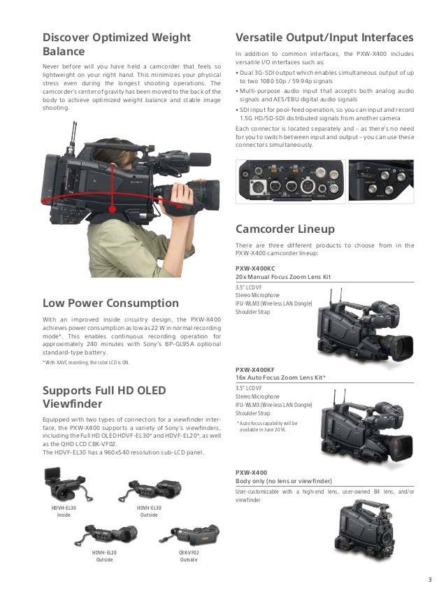 Sony PXW-X400 brochure Slide 3
