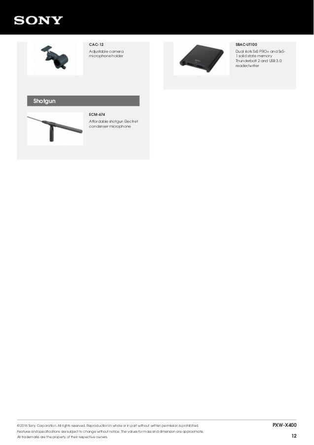 Sony PXW-X400 XDCAM Brochure