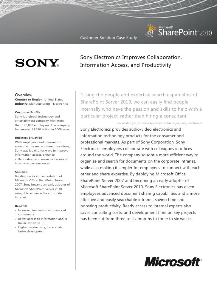 sony strategic information How samsung became the world's no 1 smartphone maker—and  connecting decision makers to a dynamic network of information,  akio morita and sony.