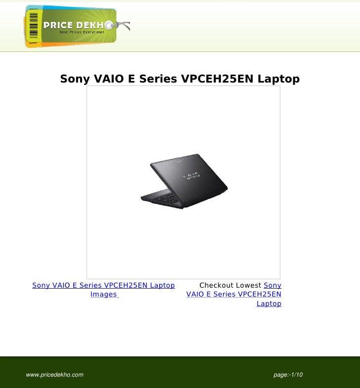 Sony VAIO E Series VPCEH25EN Laptop  Sony VAIO E Series VPCEH25EN Laptop      Checkout Lowest Sony                 Images ...