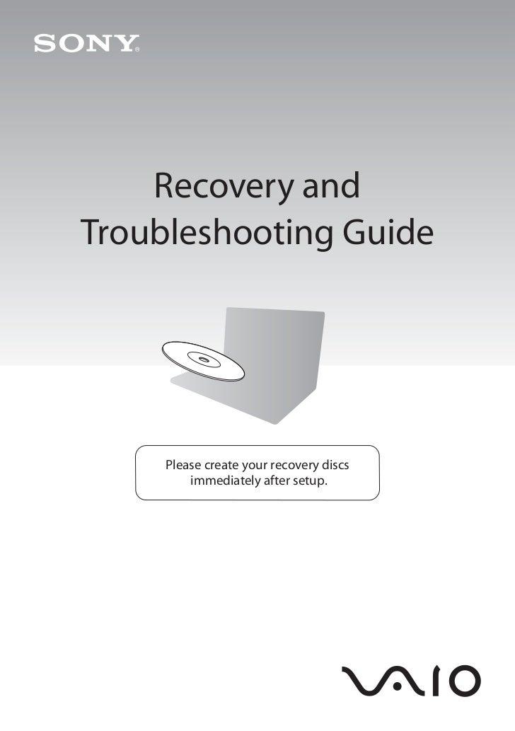sony vaio recovery manual rh slideshare net Sony Vaio Laptop Sony Vaio Logo