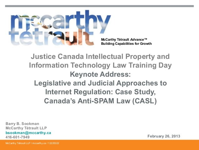 McCarthy Tétrault Advance™ Building Capabilities for Growth  Justice Canada Intellectual Property and Information Technolo...