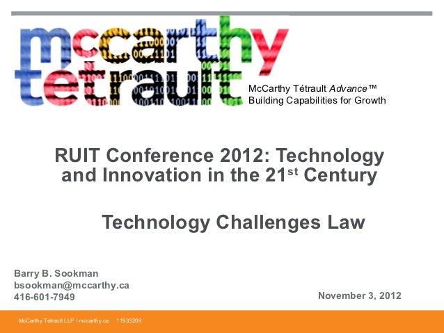 McCarthy Tétrault Advance™                                                 Building Capabilities for Growth             RU...