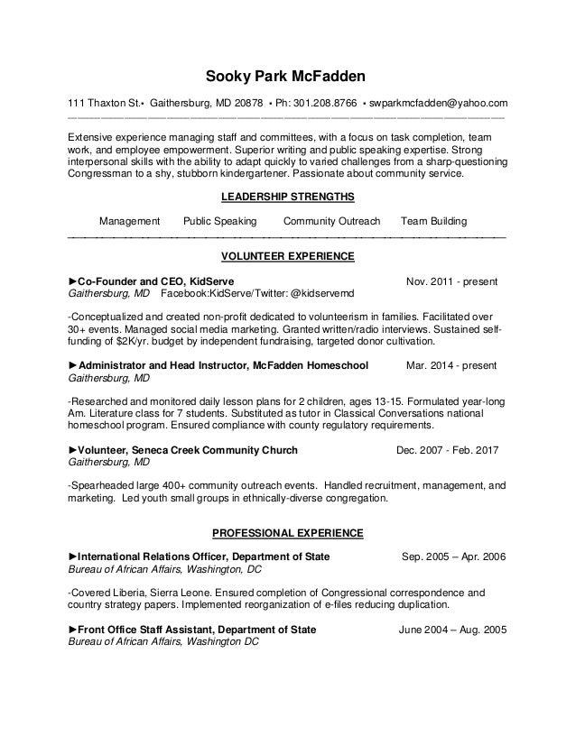Colorful Caravan Park Management Resume Crest - Administrative ...
