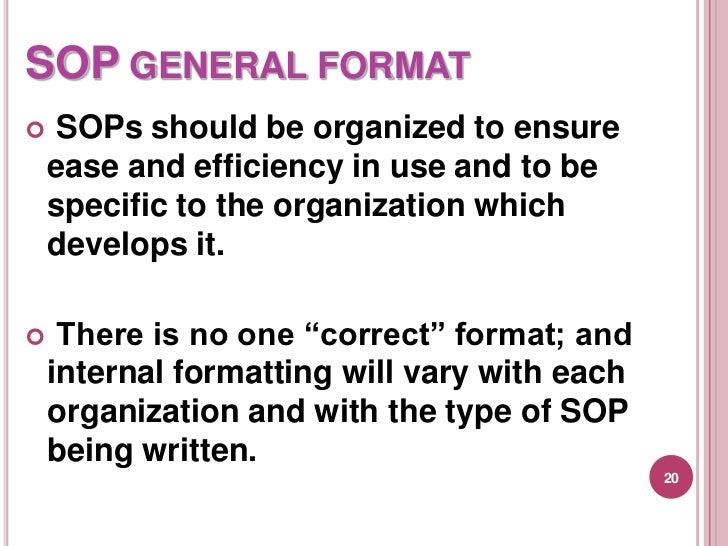 SOP GENERAL FORMAT ...