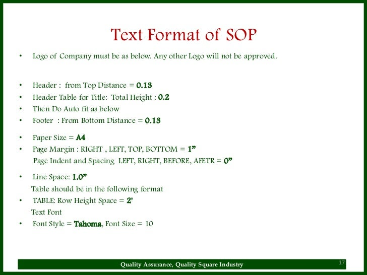 ... Quality Square Industry 16; 17. Text Format Of SOPu2022 ...