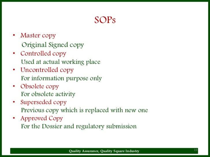 Sop Why Sop Is Used General Principles Radiopharmaceutical
