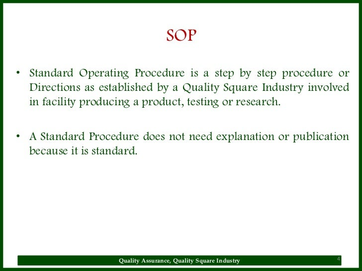 Why SOP Is Used