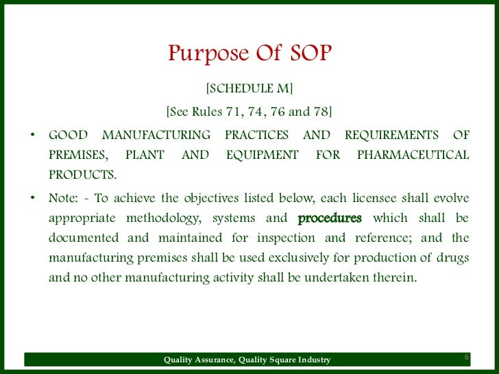 Why Sop Is Used. Sop