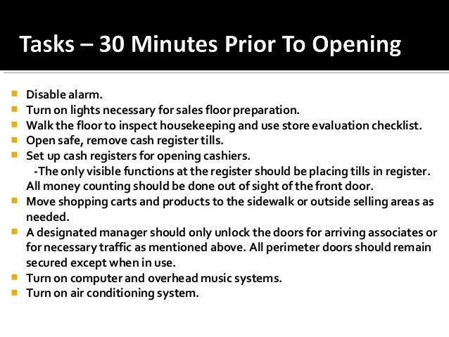 Store Operating Procedures