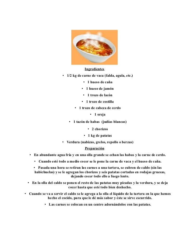 Ingredientes                        • 1/2 kg de carne de vaca (falda, agula, etc.)                                      • ...