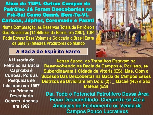 Além de TUPI, Outros Campos de Petróleo Já Foram Descobertos no Pré-Sal Como Guará, Bem-Te-Vi, Carioca, Júpiter, Corcovado...