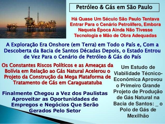 Petróleo & Gás em São Paulo Há Quase Um Século São Paulo Tentava Entrar Para o Cenário Petrolífero, Embora Naquela Época A...