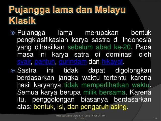 Sophia C Xi A4 26sejarah Sastra Indonesia