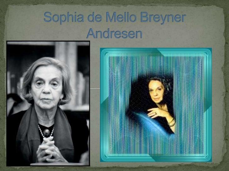  Sophia nasceu no Porto em 1919 e foi viver em Lisboa. Em Lisboa ela estudou Filologia Clássica . Sophia de Mello Breyn...