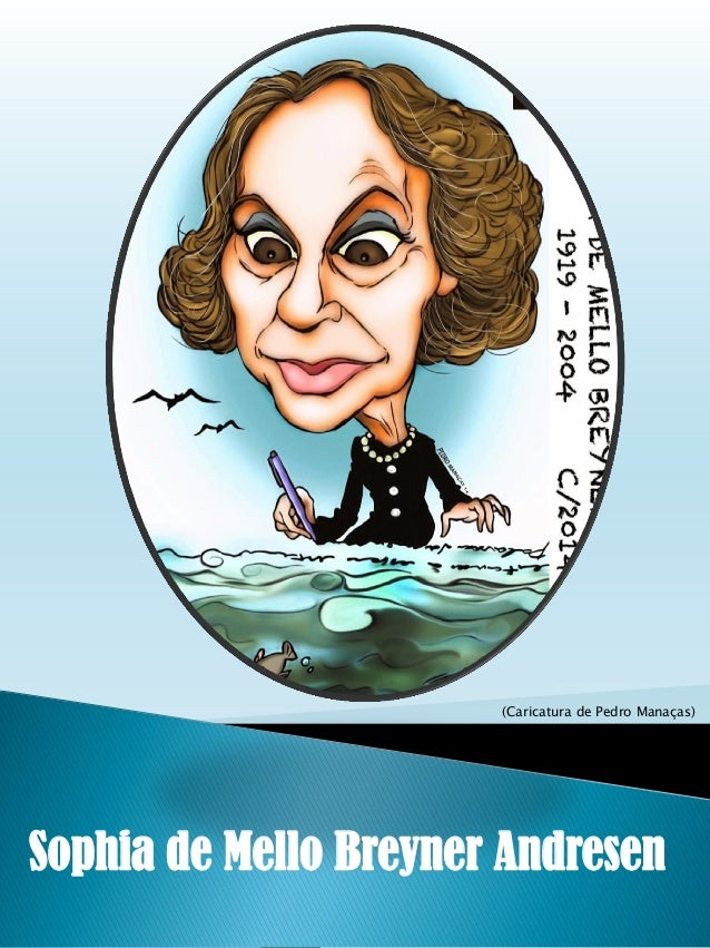 (Caricatura de Pedro Manaças) Sophia de Mello Breyner Andresen