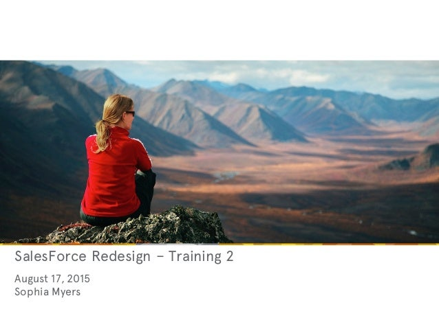 SalesForce Redesign – Training 2 August 17, 2015 Sophia Myers