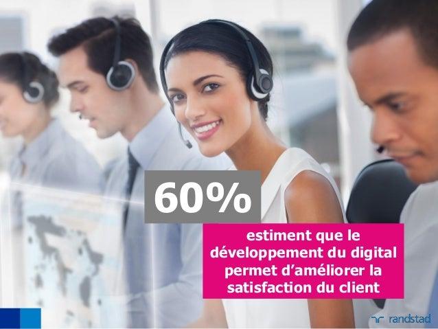 60% estiment que le développement du digital permet d'améliorer la satisfaction du client