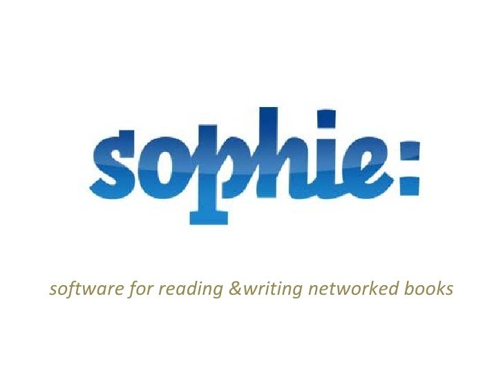 software for reading &writing networked books