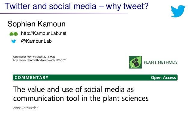 Twitter and social media – why tweet?  Sophien Kamoun  http://KamounLab.net  @KamounLab