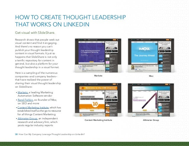 31 How Can My Company Leverage Thought Leadership on LinkedIn? To fully harness the impact of visual content, many compani...