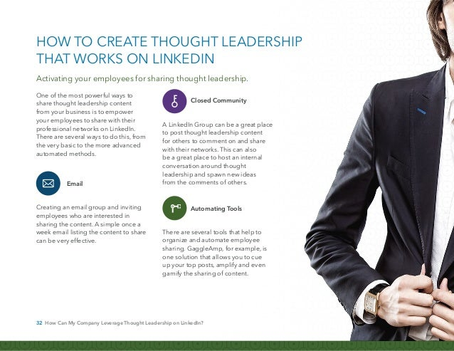 33 How Can My Company Leverage Thought Leadership on LinkedIn? HubSpot, based in Cambridge, Mass., creates marketing softw...