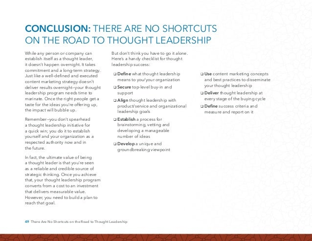 50 There Are No Shortcuts on the Road to Thought Leadership 1. Ann Handley Author of Everybody Writes and Chief Content O...