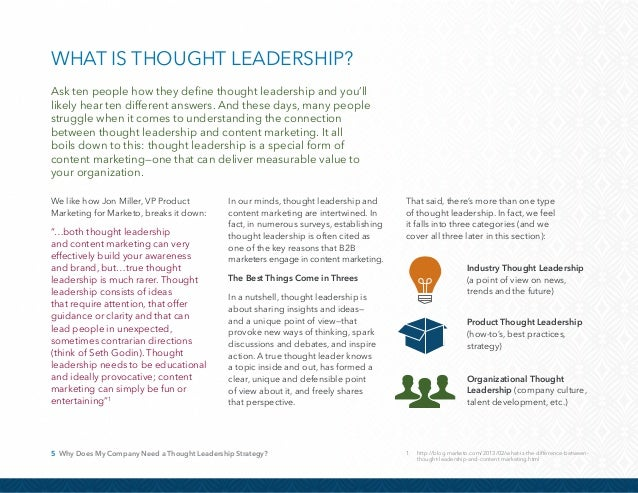 6 Why Does My Company Need a Thought Leadership Strategy? Every B2B marketer today knows buyers can readily access informa...
