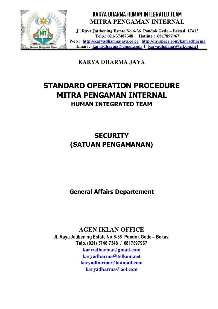 standart operating procedure team mitra pengaman internal hotel operational manual hotel operations manual pdf