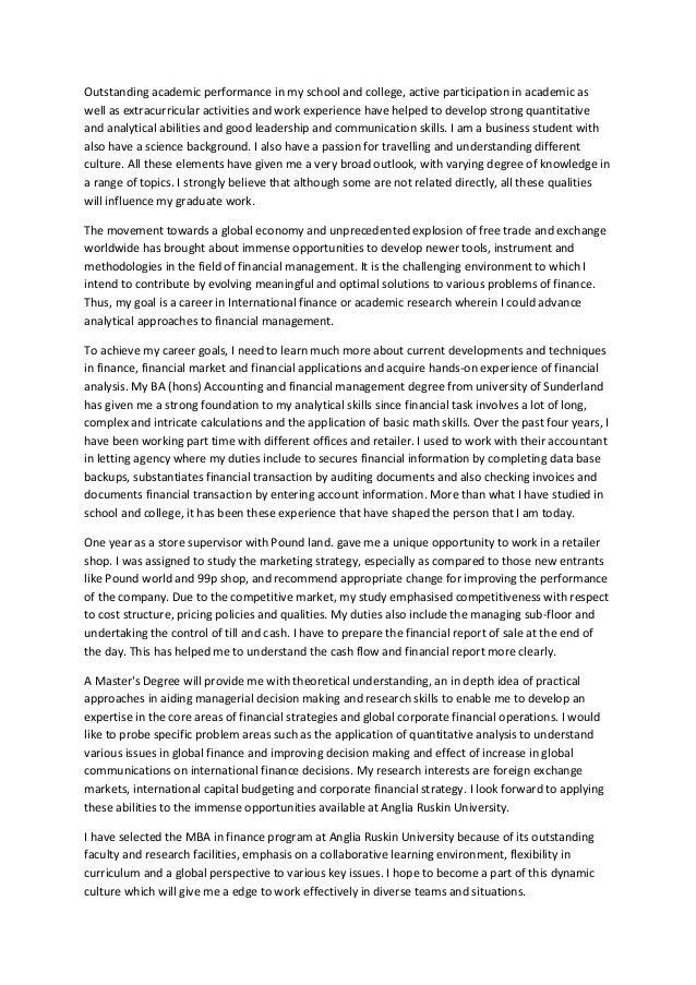 Statement of purpose letter