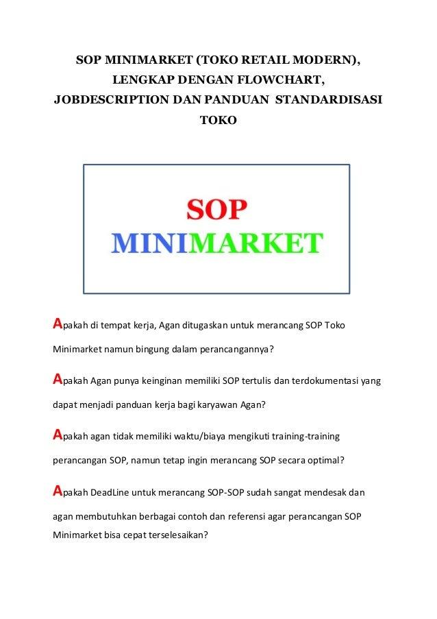 Standar Operasional Prosedur Sop Minimarket