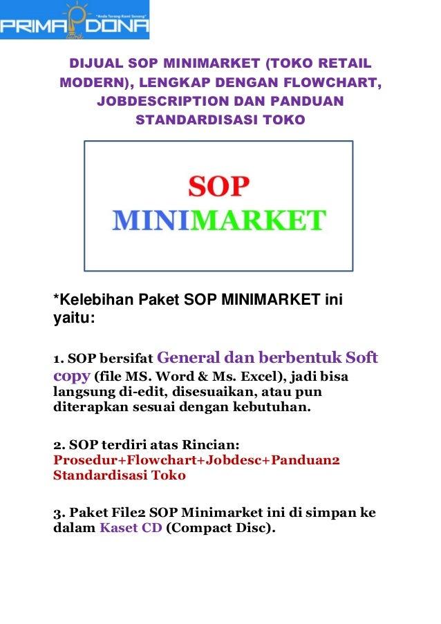 Standar Operasional Prosedur Sop Minimarket Toko Retail Modern