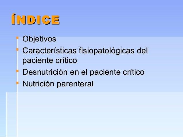 Soporte nutricional en el paciente crítico Slide 2