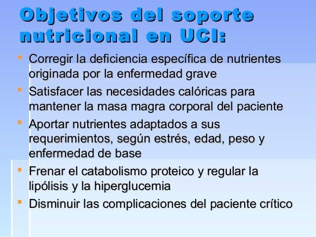 Soporte nutricional en el paciente crítico Slide 3