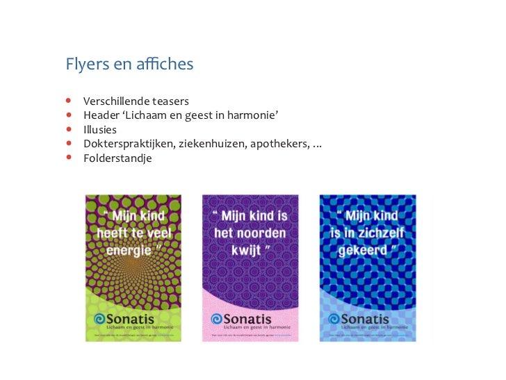 Flyers en affiches  Verschillende teasers  Header 'Lichaam en geest in harmonie'  Illusies  Dokterspraktijken, ziekenhuize...