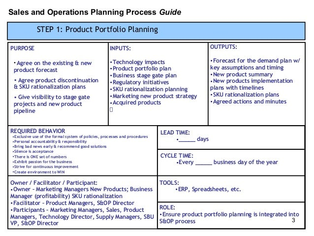 process implementation plan template - s op process template