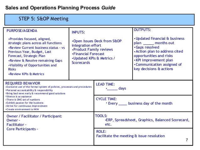 SOp Process Template