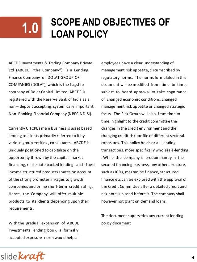 Statement Of Practice - Sample
