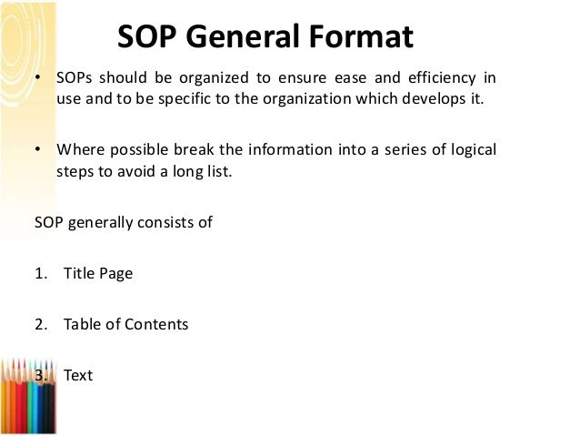 Sop Format. Standard Operating Procedure Template Standard