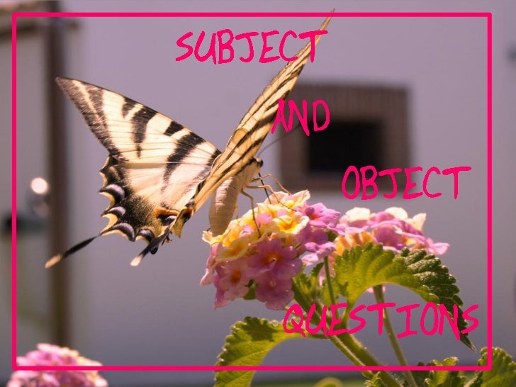 …                    'subject verb   object                            ? •                      – •