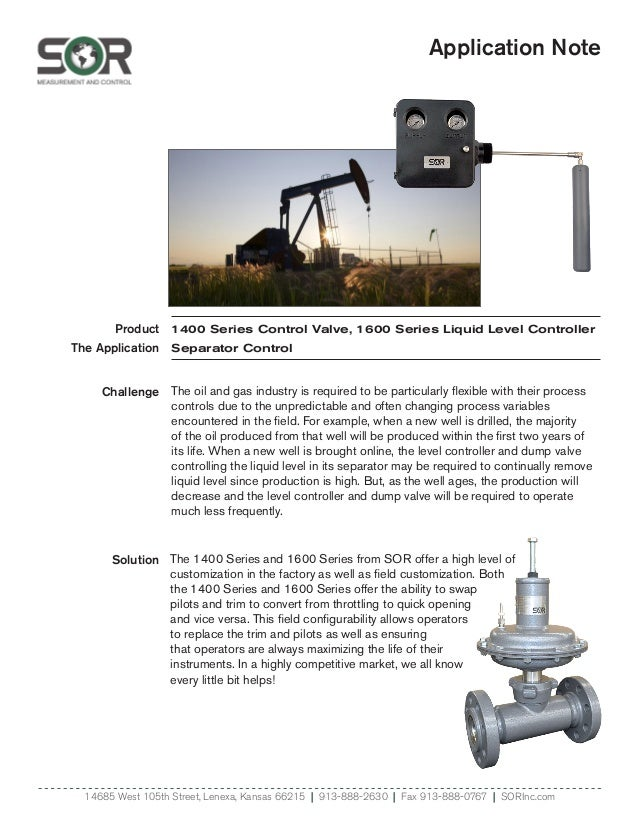 Application Note Product The Application Solution 14685 West 105th Street, Lenexa, Kansas 66215   913-888-2630   Fax 913-8...