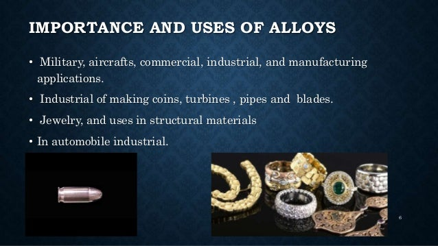 Alloys And Its Application And Uses