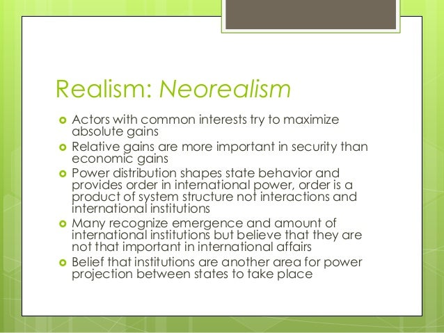 what is the difference between realism and neorealism