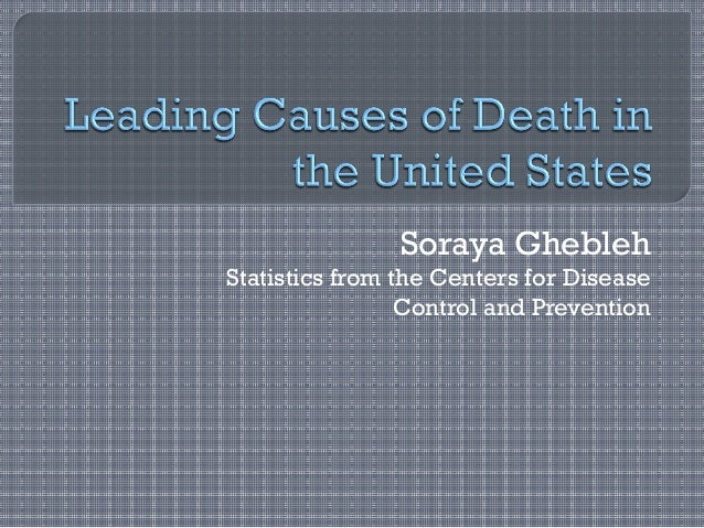 Soraya Ghebleh Statistics from the Centers for Disease Control and Prevention