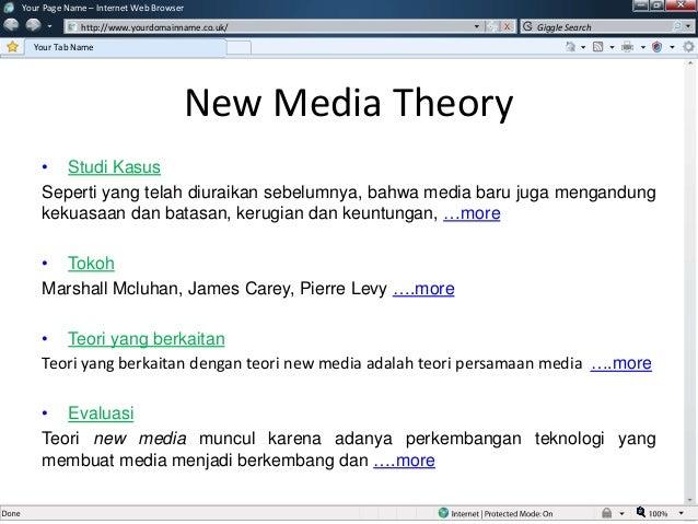 Soraya ratna pratiwi - teori media baru (new media theory)